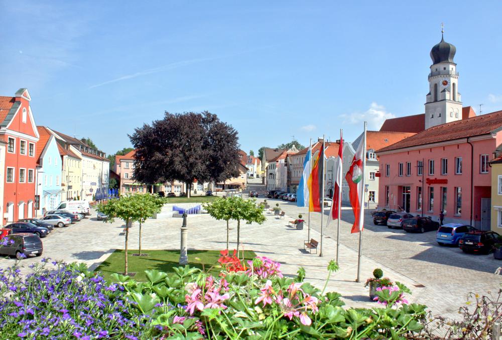 Stadtplatz, Bad Griesbach, Kurort, bayerische Toskana, Luftkurort, Rottal, Niederbayern, Bäderdreieck