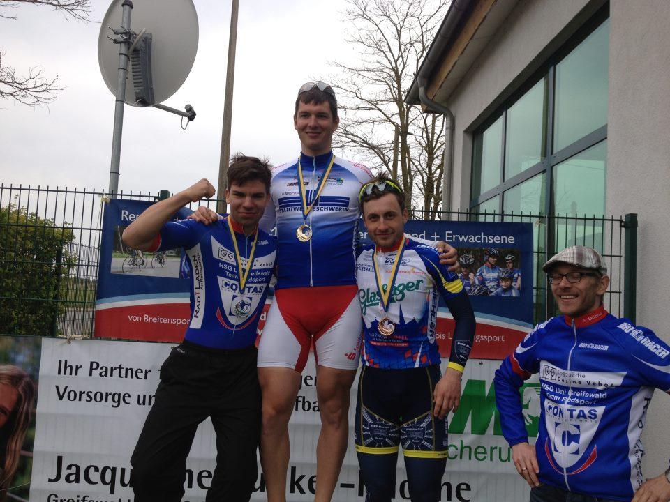 Podium der gleichzeitig ausgetragenen Landesmeisterschaft MV