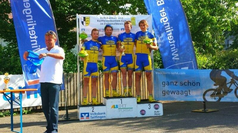 Gesamtteamsieg Tobias Tetzlaff, Janko Marquardt, Marcel Seidel, Martin Stephan, VR Cup 2014