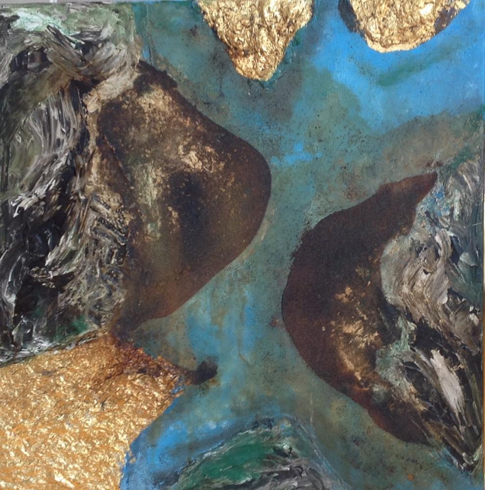 Bitumen, Gold und Rost