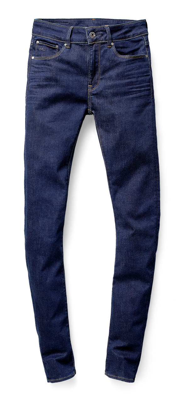 "Hoch geschnittene ""Contour High Waist Skinny Jeans"". G-Star RAW, ca. 100 Euro"