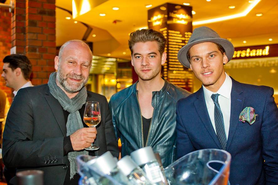 Werbeagentur-Chef Oliver Voigt, Schauspieler Max König und Model Sidney Wolf