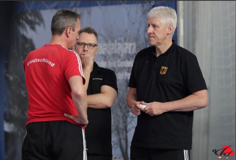 Besprechung mit dem Bundestrainer Thomas Nitschmann