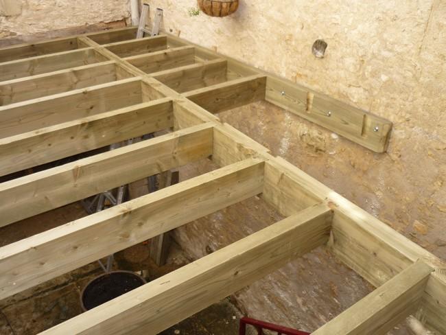 Plancher de terrasse en étage