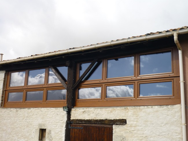 Fenêtre plaxé chêne