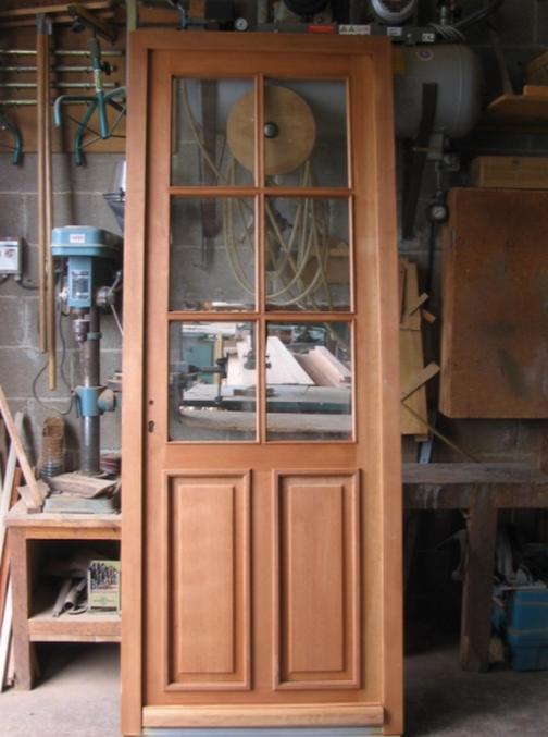 Porte extérieur simple vitrage