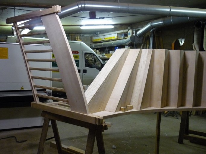 Fabrication d'escalier quart-tournant