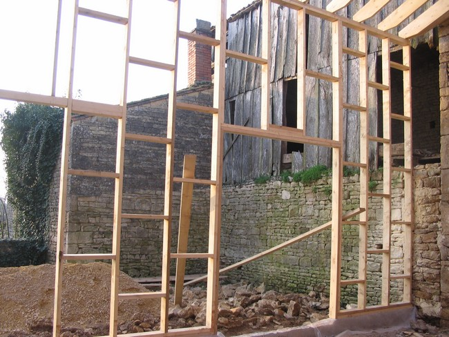 Mur en ossature bois