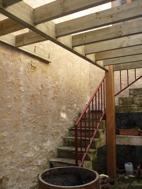 Support terrasse en étage
