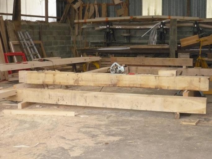 Fabrication de charpente en atelier