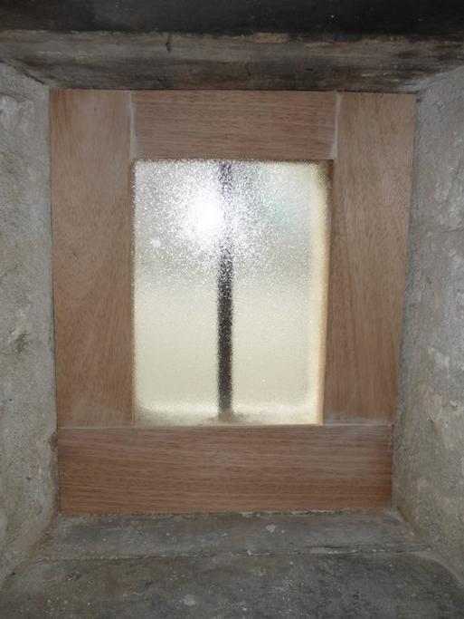 Fenêtre fixe verre imprimé