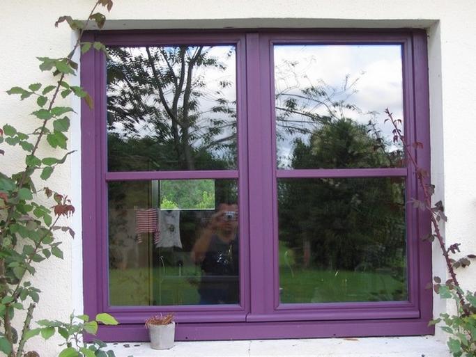 Fenêtre bois exotique
