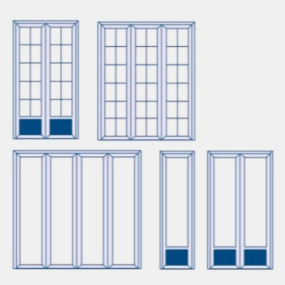 Forme des portes fenêtres