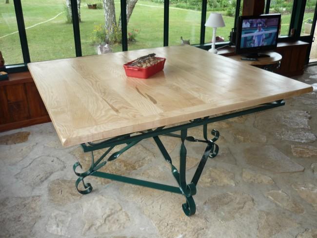 Frêne dessus de table avec emboitures