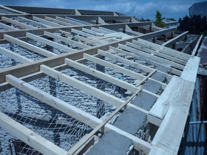 Charpente pour toiture fibro ciment