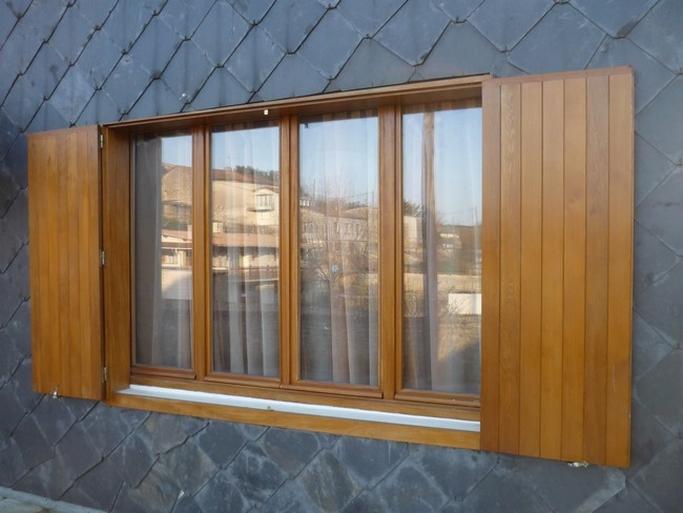 Fenêtre bois exotique 4 vantaux