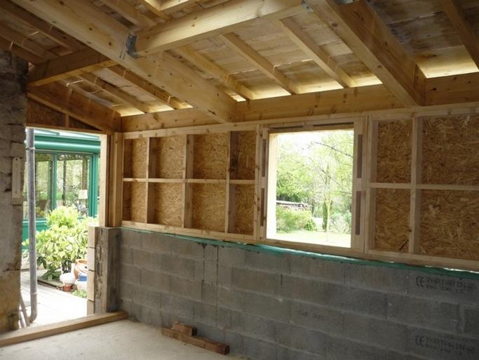 Porte et fenêtre sur ossature bois