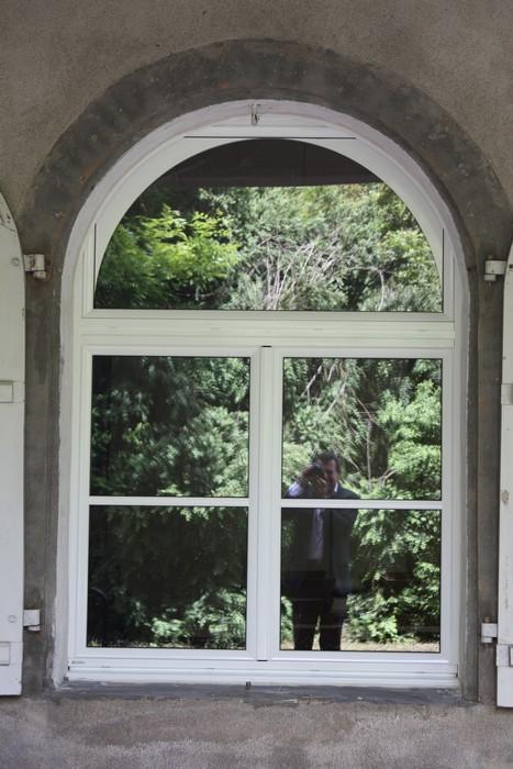 Fenêtre mixte avec imposte coin de mouchoir