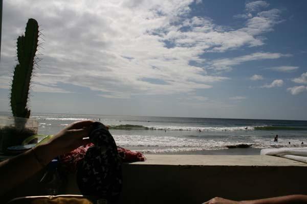 Como veis hoy las olas no nos han acompañado