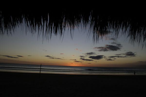 Atardecer en Playa Flor.