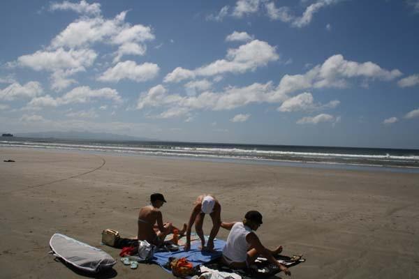 Cogiendo sitio en la playa jejejejeje