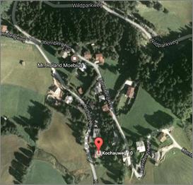 Landkarte mit dem Standort der Imkerei