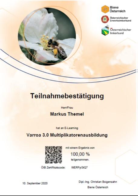 Zertifikat Schulung