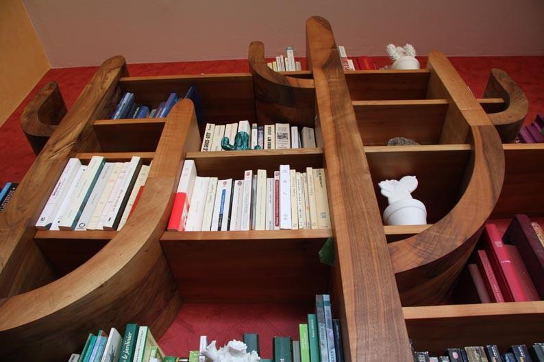 L'Atelier Marquis - ébénisterie d'art - Bibliothèque cactus