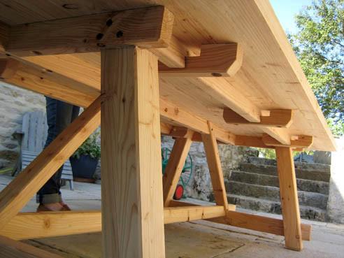 L'Atelier Marquis - Table rustique extérieure en mélèze massif