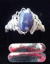Black Opal in Silber gefasst