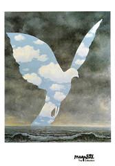 """Tableau """"La Grande famille"""" de René Magritte."""