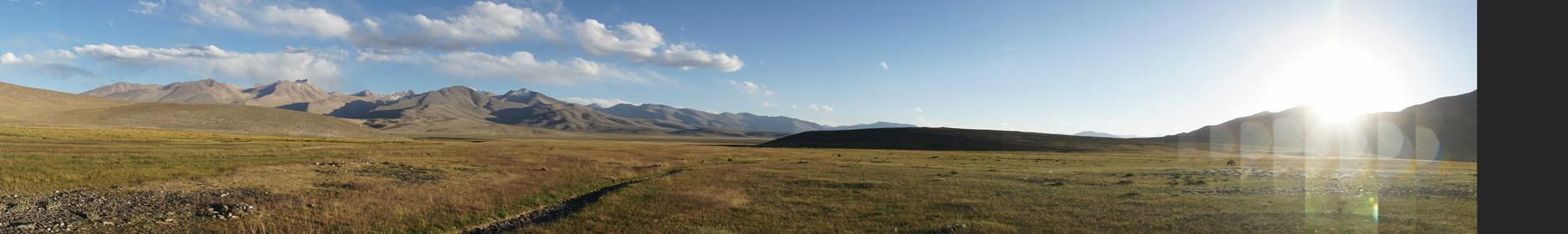 Landschaft, die überwältigt...