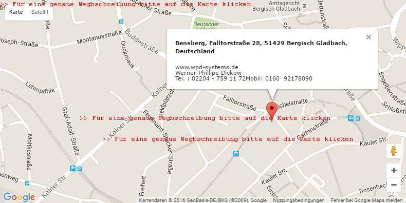 >> Für eine Wegbeschreibung bitte auf die Karte klicken ! !