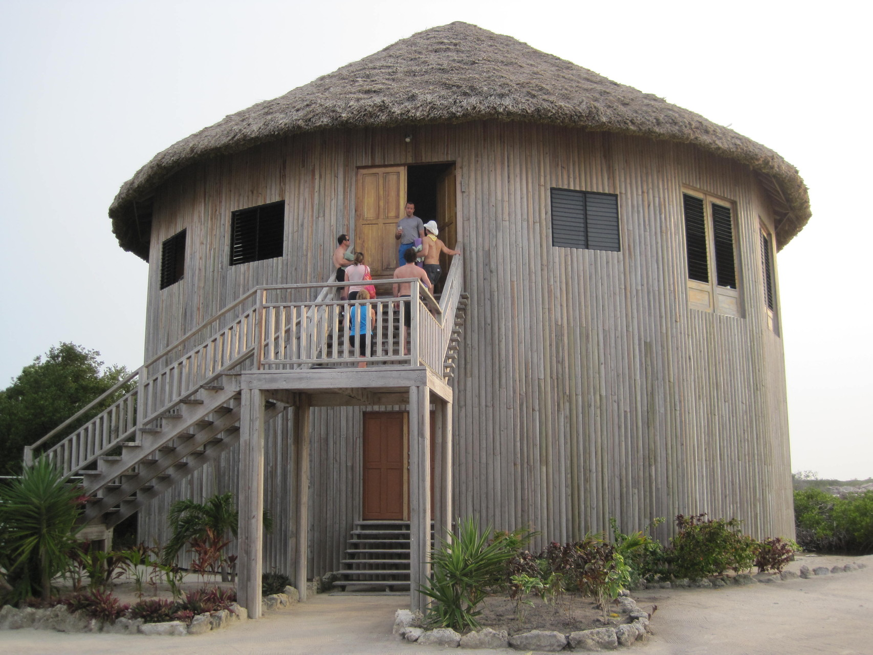 This is the amazing two story structure where we meet to practice yoga every day.