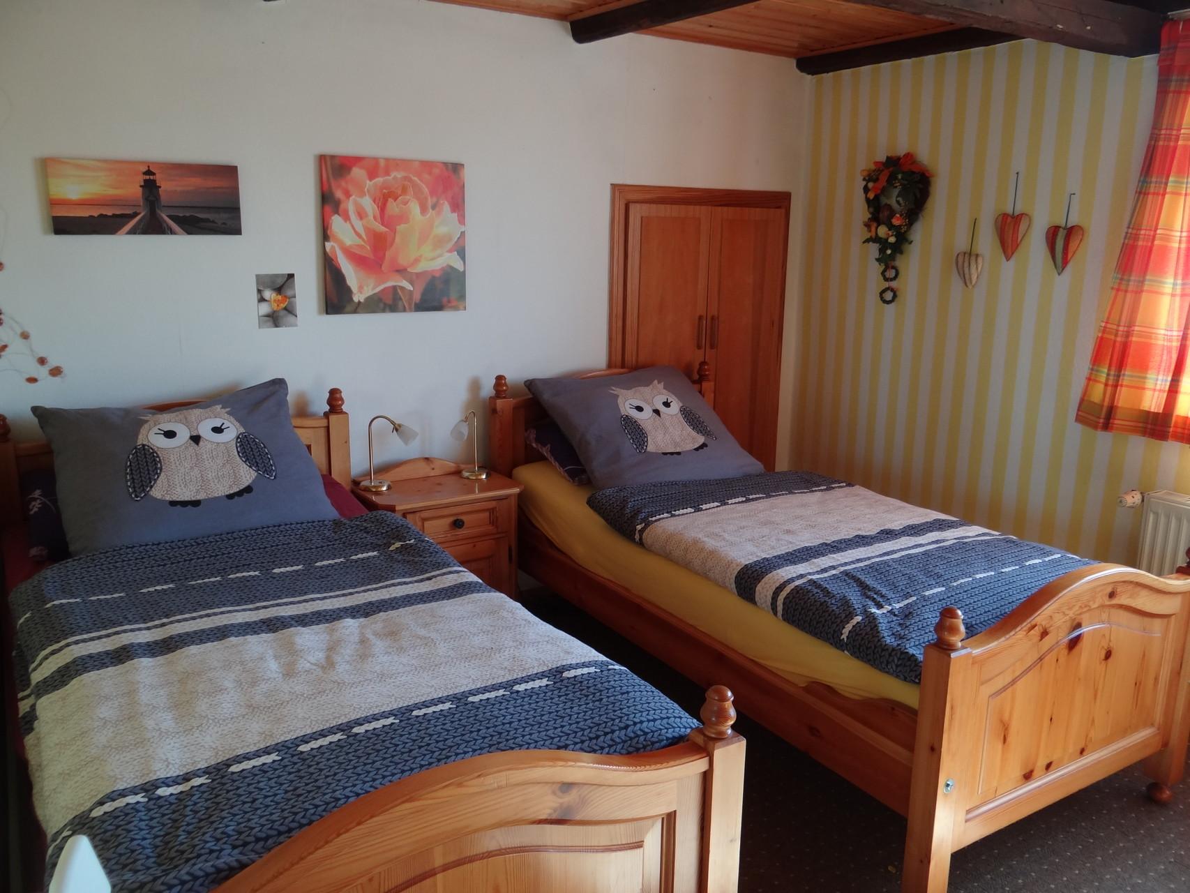 Zimmer 1 mit anderer Bettwäsche