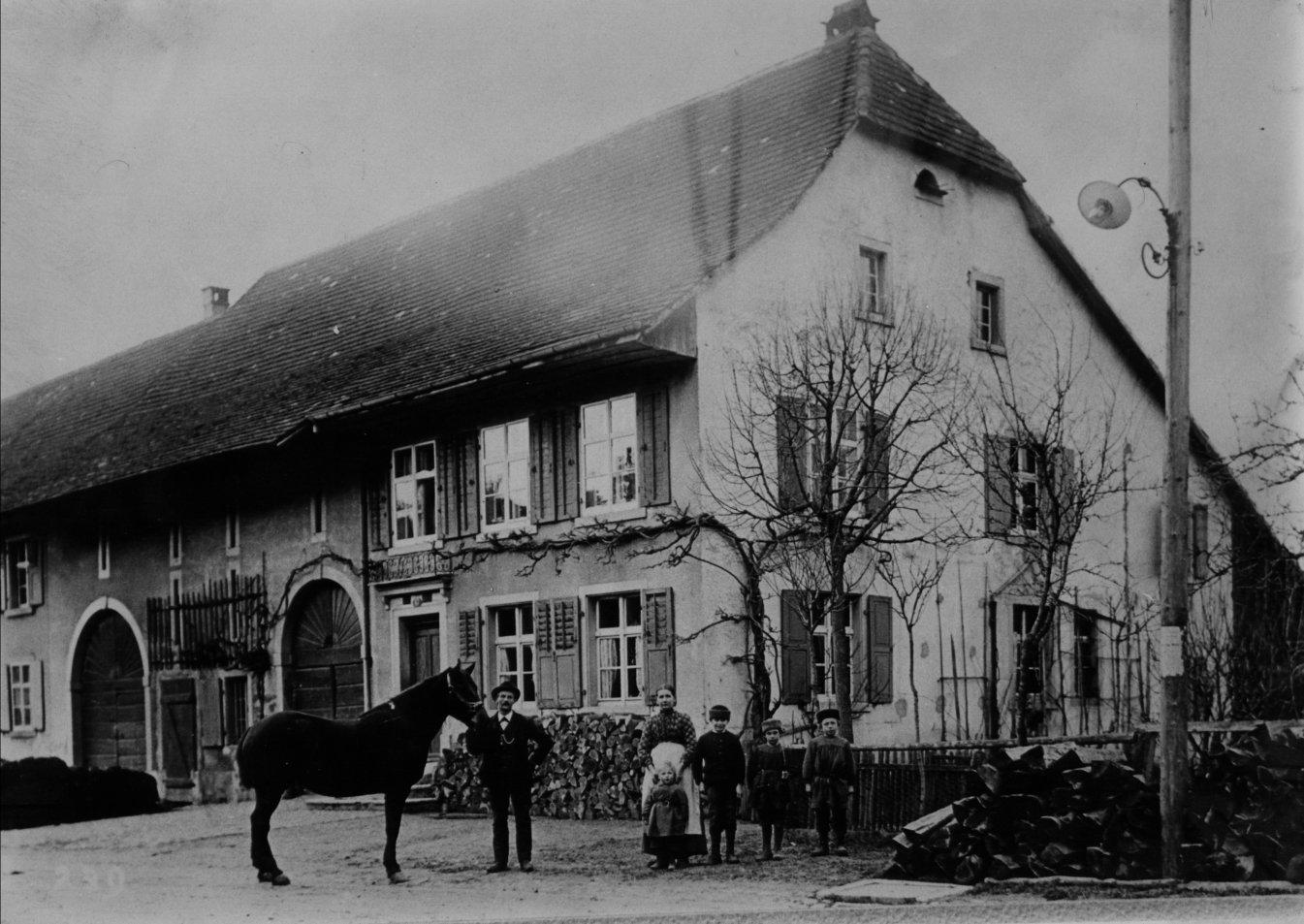 Bauernhaus um die Jahrhunderwende 1899