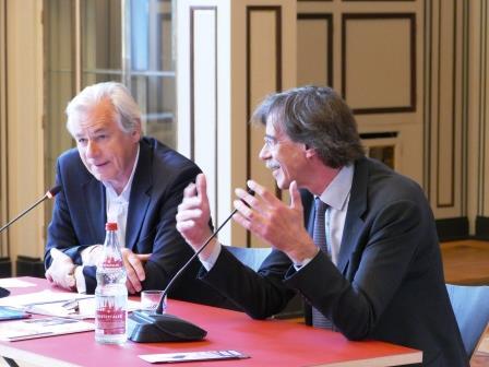 Prof. Jörn Walter im Gespräch mit Prof. Ullrich Schwarz (ehem. Geschäftsführer der Architektenkammer Hamburg), 2017