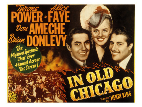 IN OLD CHICAGO 1937 avec TYRONE POWER, DON AMECHE, ALICE FAYE.