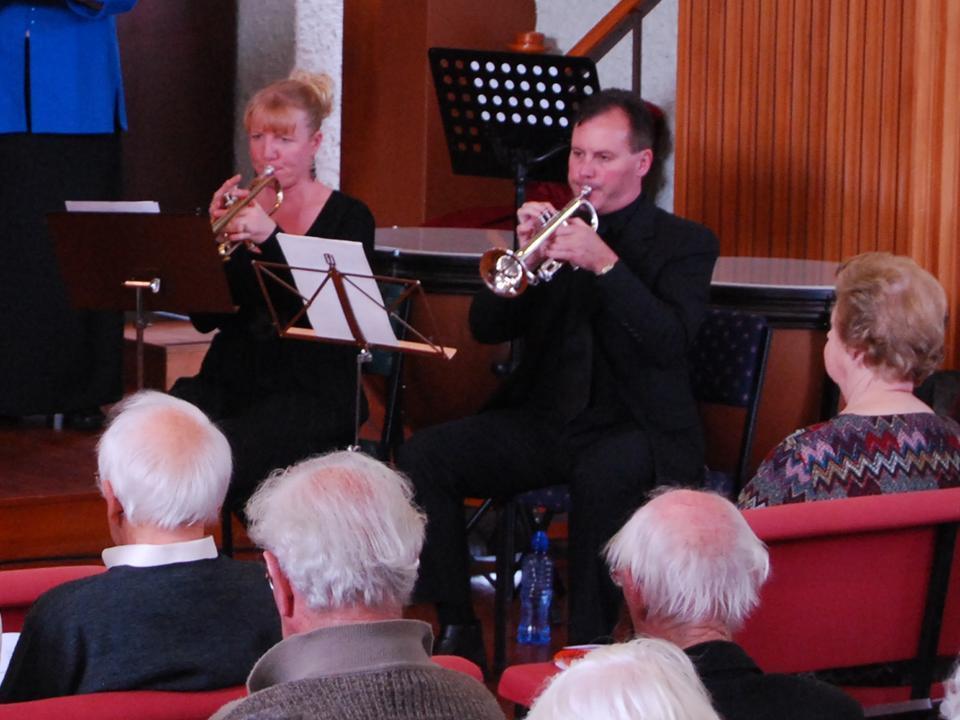 Sandy Herewini & Maurice Reid (trumpeters)