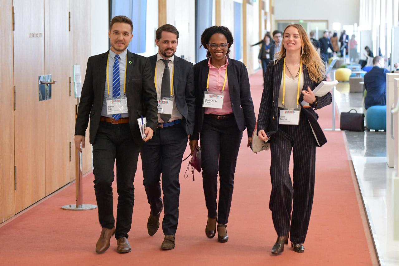 YGCs Adrian Toth (Hungary), David Delarive (Switzerland), Stephanie Ekaette Trpkov (Croatia) and Alice Sparks (United Kingdom)