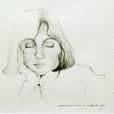 Les yeux clos 19 x 14 (30x24) - graphite