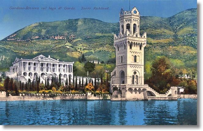 Ansichtskarte mit Villa Ruhland und Torre  Ruhland