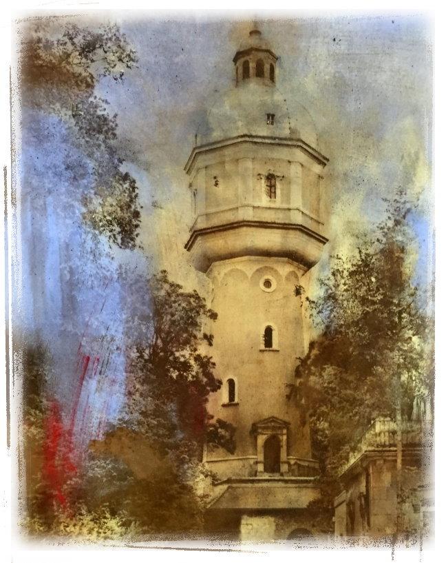 Der Neu-Ulmer Wasserturm, das Wahrzeichen der Stadt