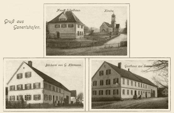 Ansichtskarte um 1900 von Gannertshofen