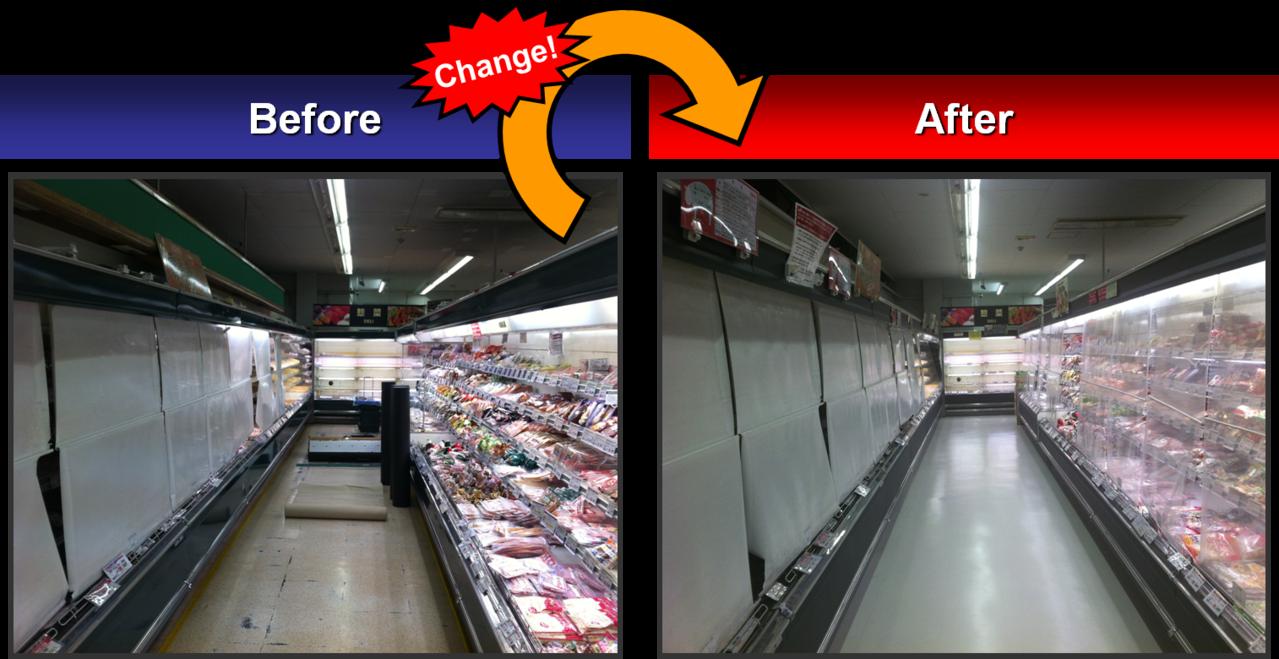スーパーマーケット-陳列什器-D