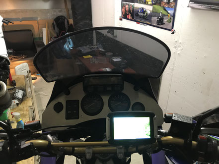 Cockpit-Platte aus Aluminium