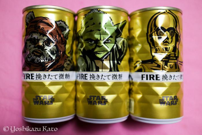 スター・ウォーズのキャラクター・コラボ缶コーヒー。