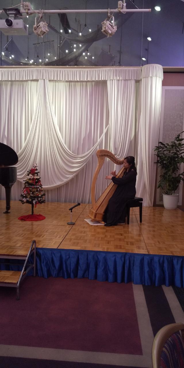 私もハープ演奏