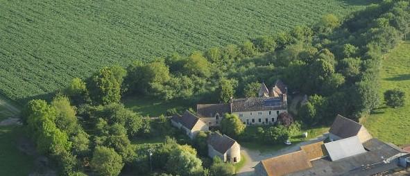 Vue aérienne du Boistier