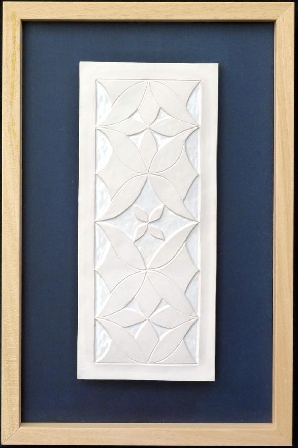 Andalusisches Relief-Bild in Porzellan